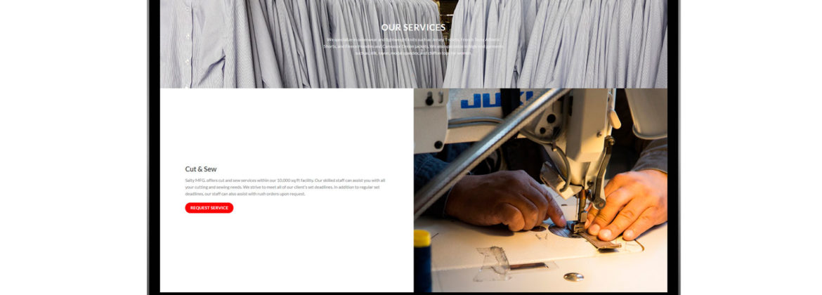 Fabric Manufacturing Website Development